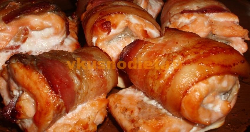 Рыба в беконе запеченная в духовке или аэрогриле