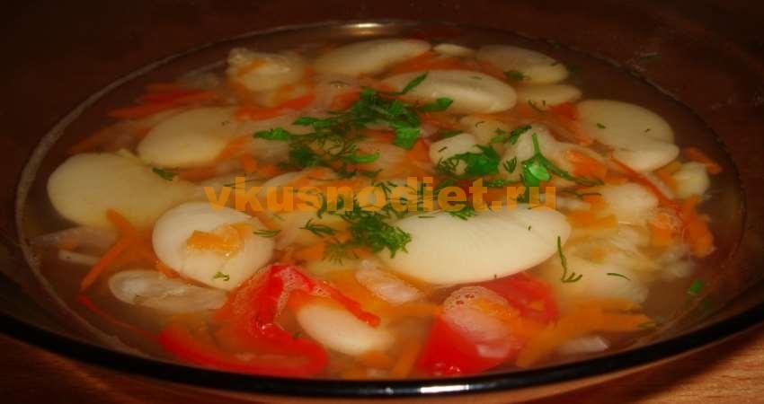 Суп из белой фасоли Лима
