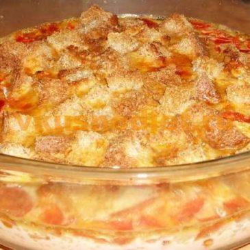 Омлет с помидорами