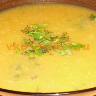 Овсяный суп с овощами