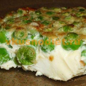 Омлет с горошком зеленым