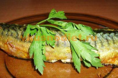 Скумбрия запеченная в духовке со вкусом копченой рыбки