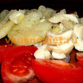 Картошка с рыбой на пару
